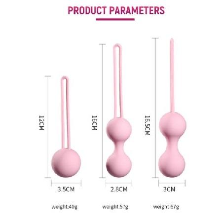 3pcs Set Kegel Balls Gift Set Size