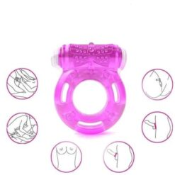 Clit Stimulation, Elastic delay ring, Premature Ejaculation Lock Vibrator 2