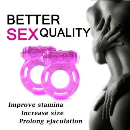 Clit Stimulation, Elastic delay ring, Premature Ejaculation Lock Vibrator