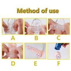 Eros Reusable Penis Sleeve Delay Ejaculation Methods of Use