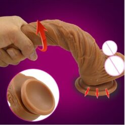 Skin feeling Realistic soft Dildo with suction cup 2
