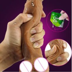 Skin feeling Realistic soft Dildo with suction cup