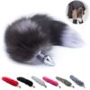 Stainless Steel Metal Anal Butt Plug Fox Tail 4