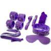 Purple 7 pcs bondage set