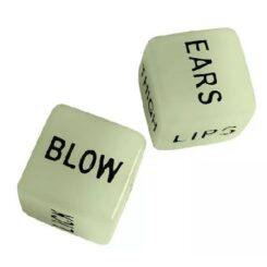 Glow in the dark sex dice
